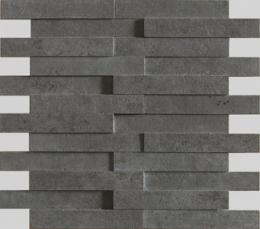 Evolution black striato mosaico brick	G-1822	 	 (11,71``x11,02`` - 29`75x28 cm)