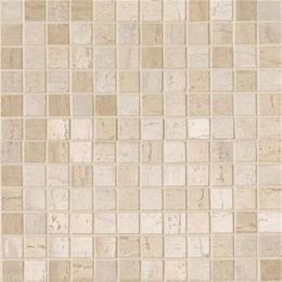 Mosaico Travertino mix Beige-Crema (2,2х2,2) Lapp Rett 30х30