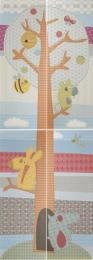 Декоративный элемент Play Patchwork Tree Composicion 50 x 140 (25 x 70 x 4)