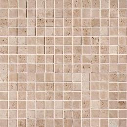 Mos.Turkish Travertine Tumbled+Sealed 2x2 30.5x30.5