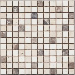 Travertine, Dark Emperador винтаж 300х300мм DAO-03