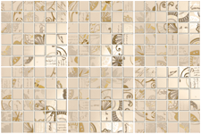 Мозаика Carillon Mosaico Cream set 6 pz. 30x45
