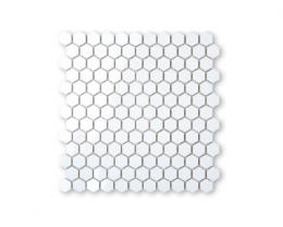 Фарфоровая мозаика HONEYCOMB 25x29/PC 310x295 BABY HEXAGON WHITE