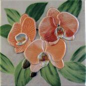 Декоративный элемент Orquideas Naranja Placa Decor 20 x 20