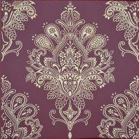 Декоративный элемент Paisley Burdeos Rojo Decor 20 x 20