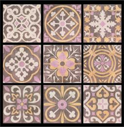 Decor Bastide Choco (Mix 9) 20x20