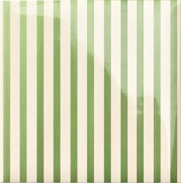Декор Stripe Green 20x20