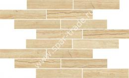 Мозаика Attica Pro Mosaico Travertino Beige Muretto (3x15) 25x45