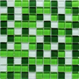 Мозаика стекло Crystal White Green 30x30x0,4(1,62)