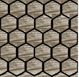 ART MARBLE	пол	MOSAIC HEXAGON	BROWN	245x280	LAPPATO