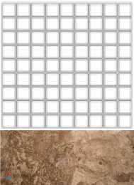 FOSSILполMOSAIC 3D Чип 7,5*7,5BROWN300x300LAPPATO/FULL LAPPATO