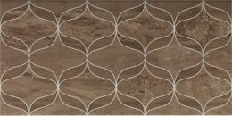 Ethereal Soft Brown Geometric Decor Glossy 30х60/Геометр Декор Коричн Глянц 30х60 (K927943)