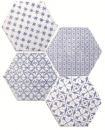 Marrakech Mosaic Azul Hexagon Декор 150х150 мм/56,1