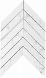 Мозаика ATLAS CONCORDE MARVEL STONE Carrara Pure Chevron Wall 25х30,5