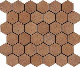 Mosaico Hexagono Ducado Oro 26х30