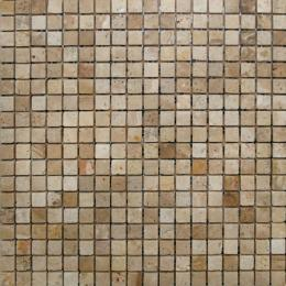 Арт. MB065A. Мозаика 1,5*1,5, сетка 30,5*30,5*7 Chinese Travertine