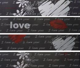 Арт. 44207. LOVE anthrazit 25x5.5