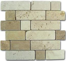 Mosaico Travertino Brick 184996 30,5x30,6 D-515