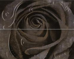 Decor Rosa 2 Grafito 40x50